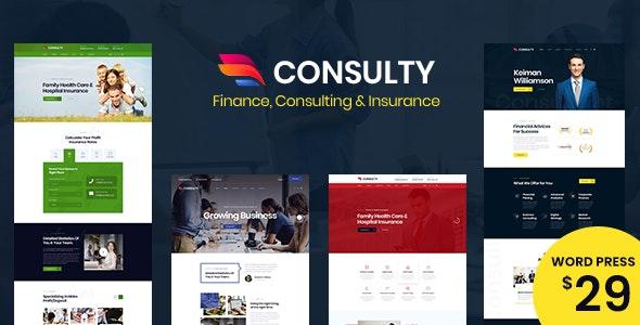 Consulty - 商业金融保险网站WordPress主题-创客云