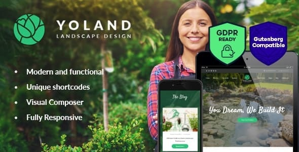 Yoland - 景观设计绿植商店WordPress主题-创客云