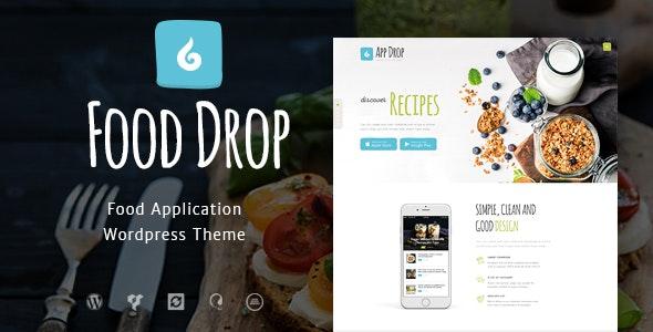 Food Drop - 订餐送餐移动应用WordPress主题-创客云