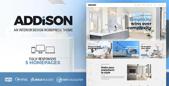 Addison - 建筑室内设计网站WordPress模板-创客云