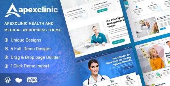 ApexClinic - 医疗健康网站模板WordPress主题-创客云