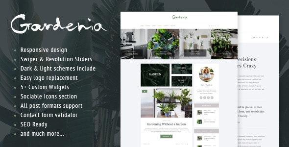 Gardenia - 时尚园艺绿植博客WordPress主题-创客云
