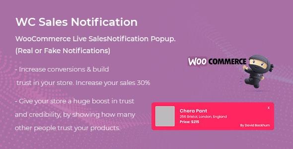 WooCommerce Live Sales Notification Pro 模拟商品销售通知插件-创客云
