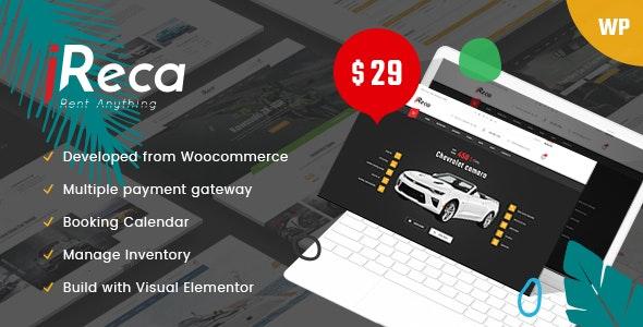 Ireca - 预约租车船自行车WordPress主题-创客云