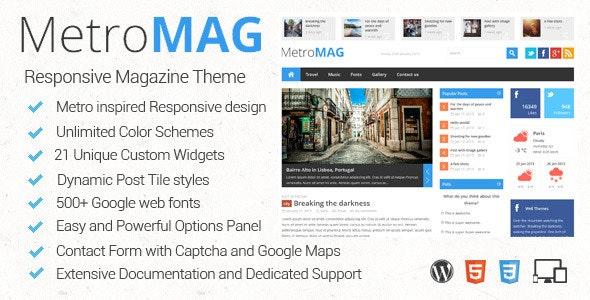 Metro Magazine - 响应式新闻杂志WordPress主题-创客云