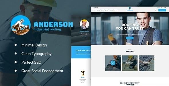 Anderson - 工业屋顶建设服务WordPress主题-创客云