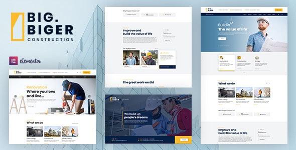 Bigger - 建筑装饰工程网站WordPress主题-创客云