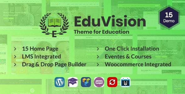Eduvision - 培训教育在线课程网站WordPress主题-创客云