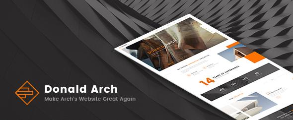 Donald Arch – 创意建筑设计WordPress主题 – v1.0.8