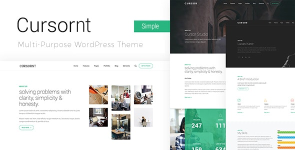 Cursornt - 企业商务网站模板WordPress主题-创客云