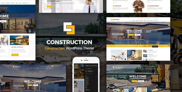 Construction - 建筑工程网站模板WordPress主题-创客云