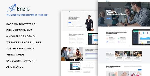 Enzio - 响应式企业商务网站WordPress模板-创客云