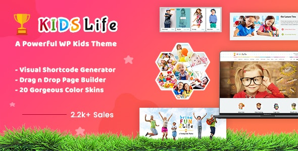 Kids Life - 幼儿园托管培训网站WordPress模板-创客云