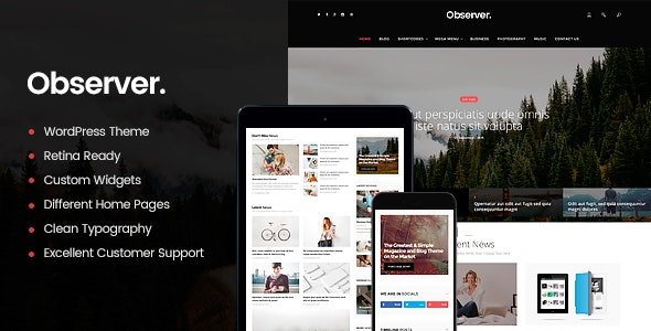 Daily Observer - 现代新闻杂志门户WordPress主题-创客云