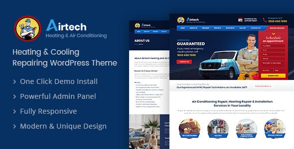 Airtech - 水暖家政服务网站WordPress主题-创客云