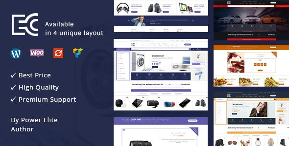 eCode - 多行业商店模板WooCommerce主题-创客云