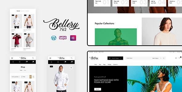 Bellery - 现代迷你电商模板WooCommerce主题-创客云