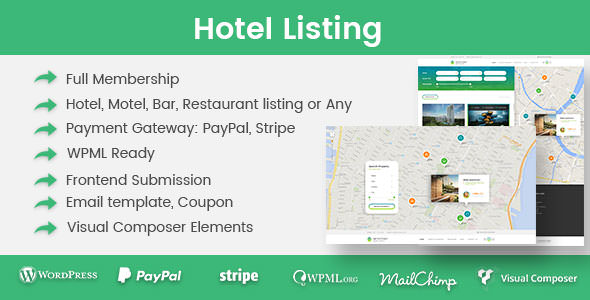 Hotel Listing 酒店宾馆预定WordPress主题-创客云