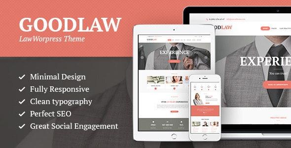 GoodLaw - 律师法律顾问WordPress主题-创客云