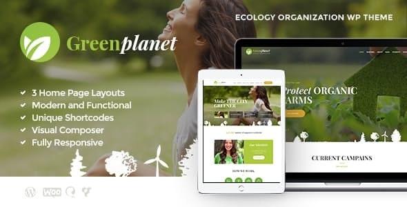Green Planet - 环保非营利组织WordPress主题-创客云