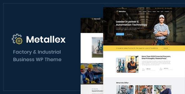 Metallex - 工业工厂工程WordPress主题-创客云