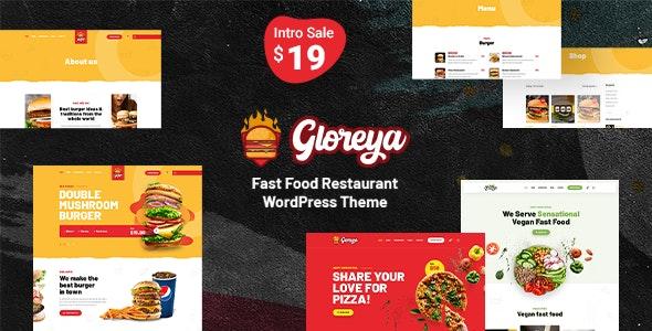 Gloreya - 快餐外卖网站模板WordPress主题-创客云