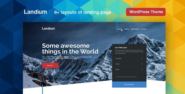 Landium - 应用程序APP着陆页WordPress模板-创客云