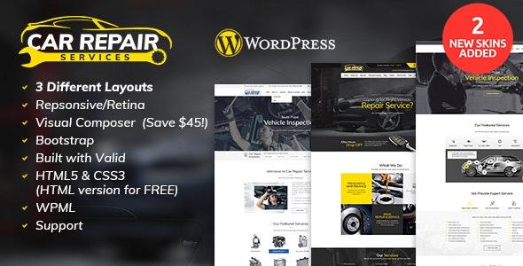 Car Repair Services 汽车机械维修美容WordPress主题-创客云