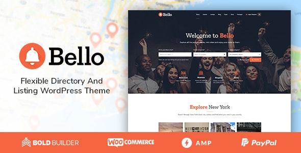 Bello – 商家目录网站模板WordPress主题 – v1.4.4