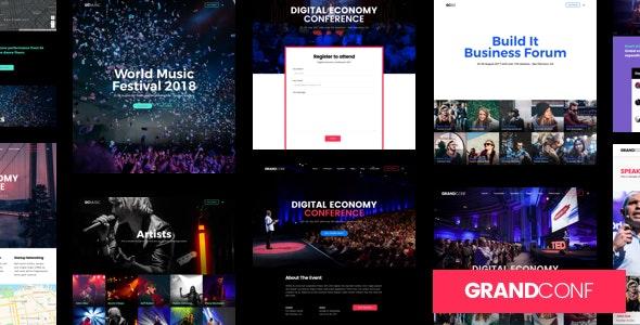 Grand Conference - 活动事件会议WordPress主题-创客云