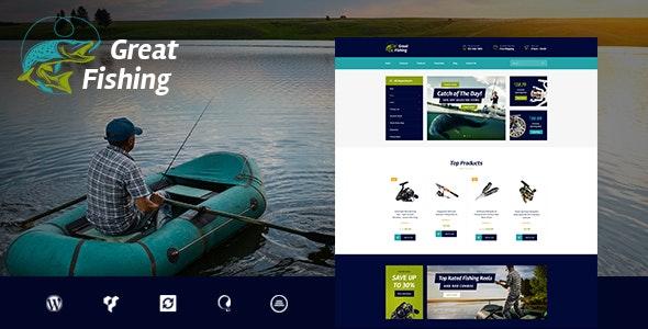Fishing and Hunting Hobby - 钓鱼狩猎爱好者WordPress主题-创客云