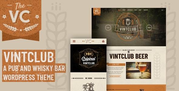 VintClub - 酒吧威士忌酒水WordPress主题-创客云