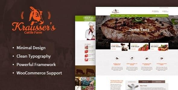 Krausser's - 牛肉制品商店WordPress主题-创客云