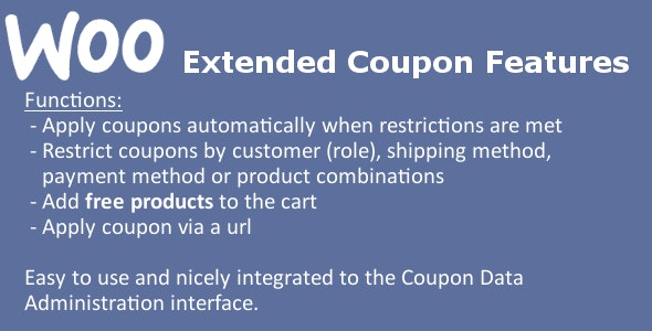 WooCommerce Extended Coupon Features PRO 商店优惠券专版版WordPress插件-创客云
