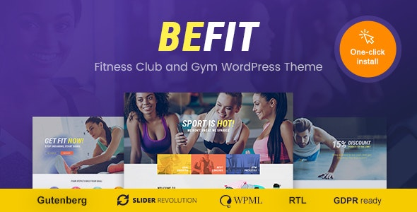 Be Fit - 健身房瑜伽WordPress主题-创客云