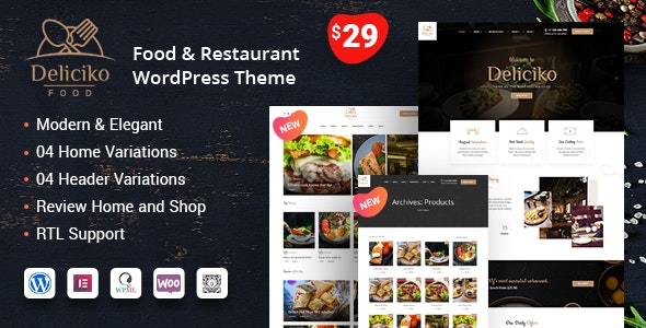 Deliciko - 餐厅美食WordPress主题-创客云