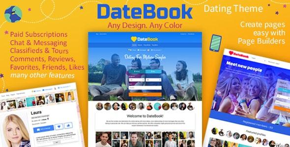 DateBook - 婚恋交友网站模板WordPress主题-创客云