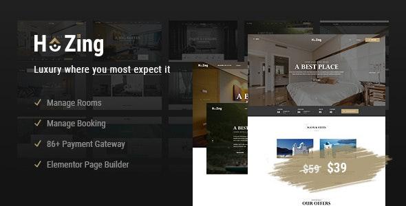 Hozing Hotel Booking - 酒店客房预订网站WordPress主题-创客云