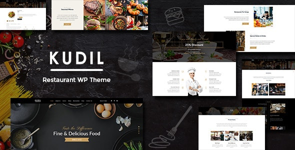 Kudil – 咖啡厅没事餐厅WordPress主题 – v1.5