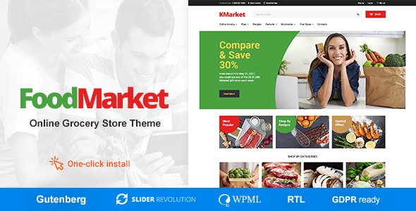 Food Market - 食品商店杂货店WordPress主题-创客云