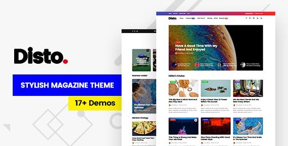 Disto - 博客杂志网站模板WordPress主题-创客云