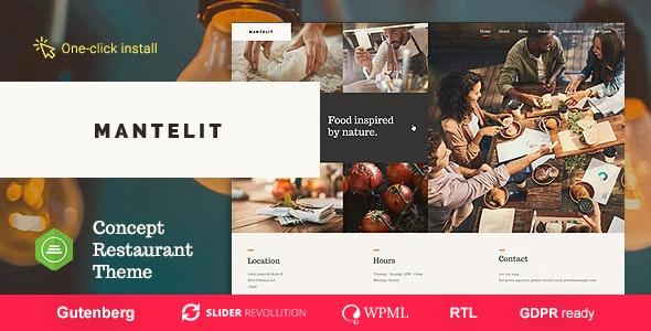 Mantelit - 餐厅美食WordPress主题-创客云