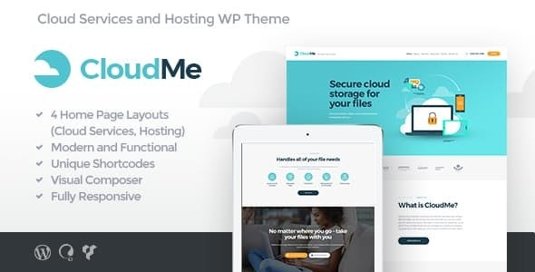CloudMe - 云存储文件共享服务WordPress主题-创客云
