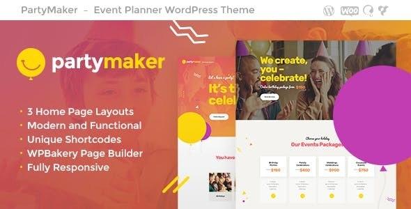 PartyMaker - 活动策划婚庆WordPress主题-创客云