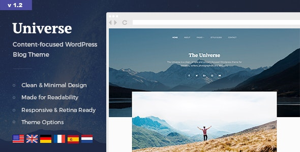 Universe - 简约轻型博客WordPress模板-创客云