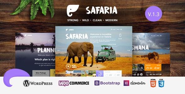 Safaria - 野生动物园网站WordPress主题-创客云