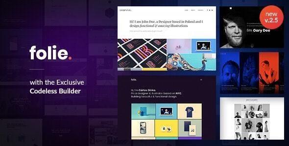 Folie - 创意产品展示网站WordPress模板-创客云