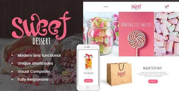Sweet Dessert - 甜品面包店 WordPress 主题-创客云