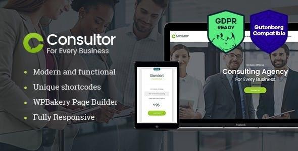 Consultor - 商业财务顾问WordPress主题-创客云