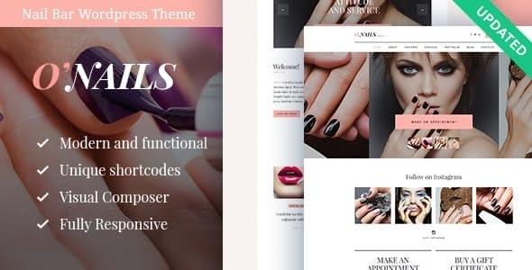 O'Nails - 美甲美容院养生网站模板-创客云